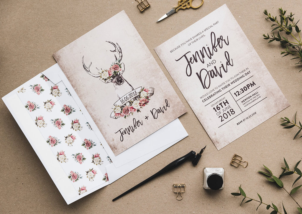 wedding invitations country style