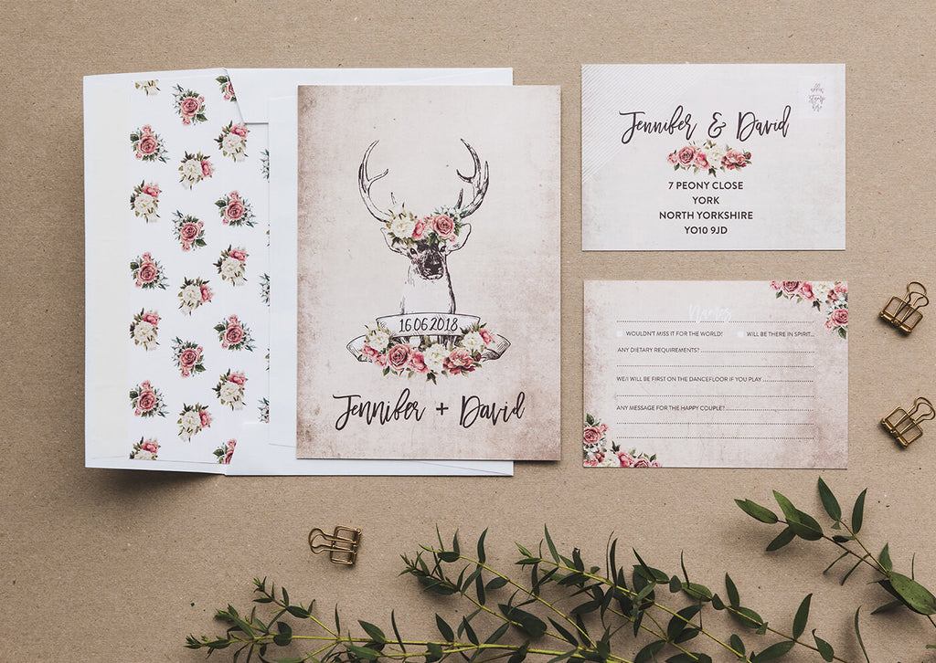 wedding invitations country theme