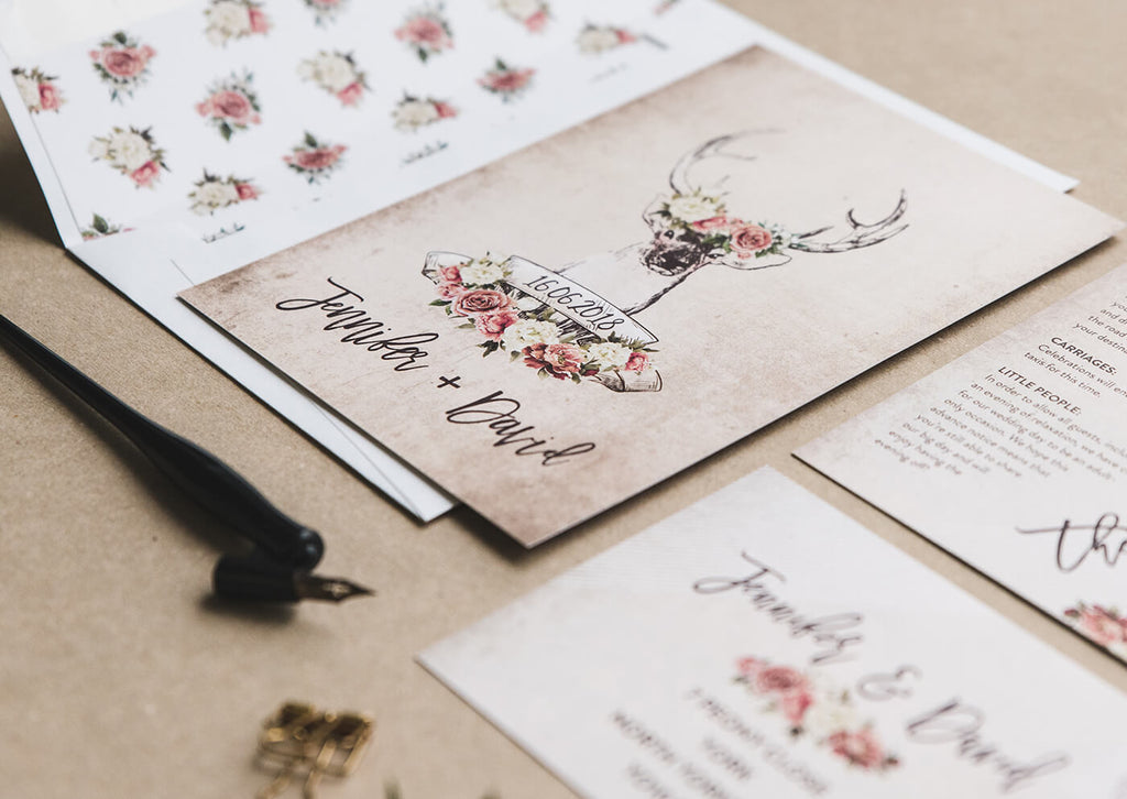 outdoor themed wedding invitations