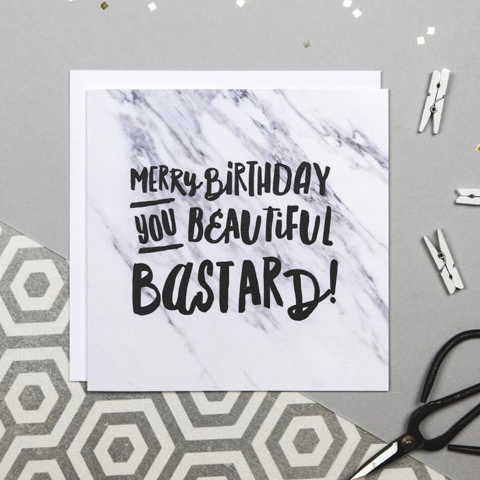 Swear Word Birthday Card 'Beautiful Bastard'
