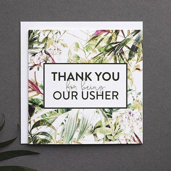 Tropical Usher Thank You Card