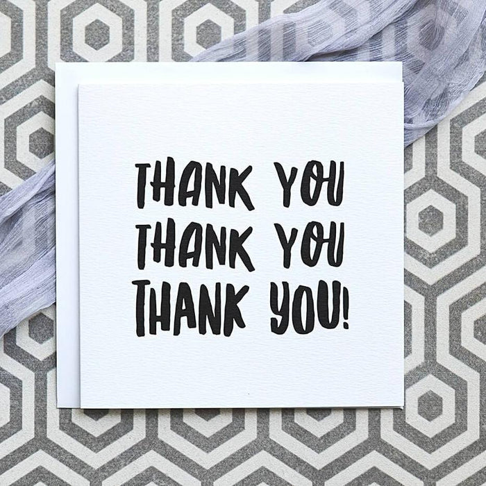 'Thank You! Thank You! Thank You!' Card