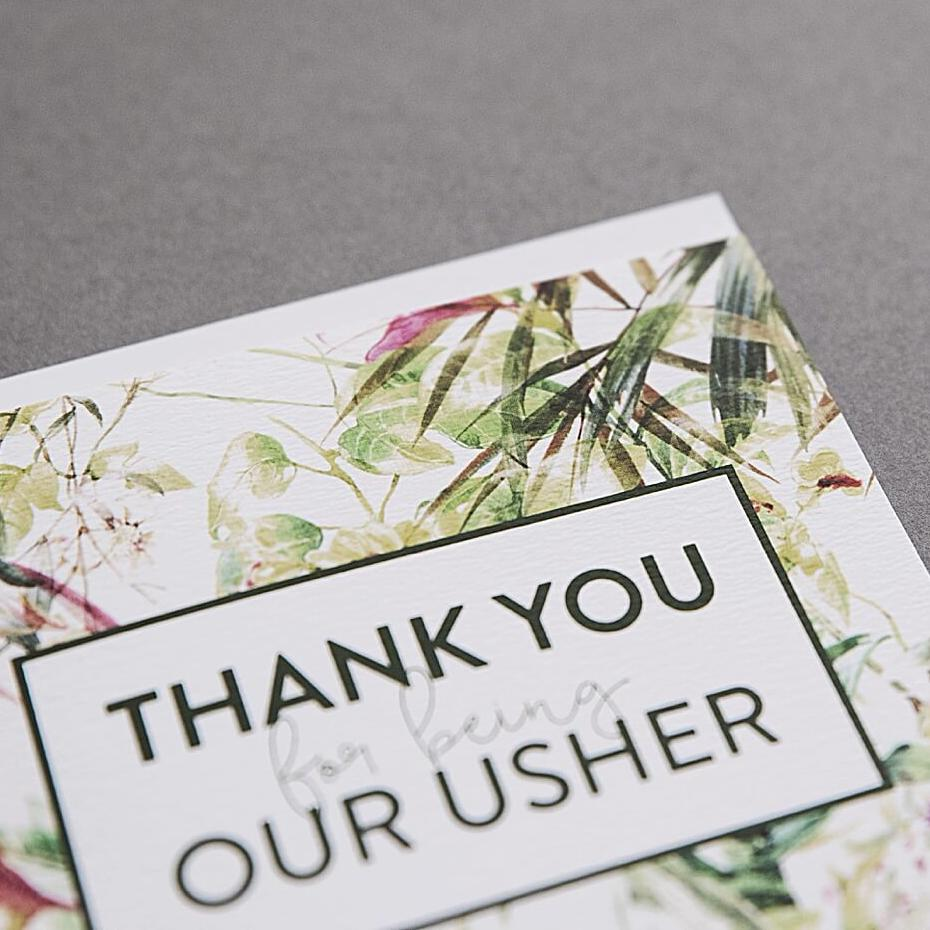 Thank You Usher Card