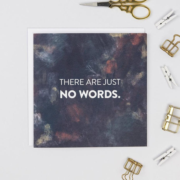 'There Are Just No Words' Sincere Sympathy Card