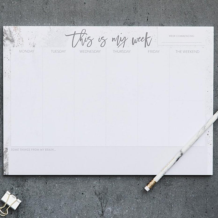 A4 Weekly Planner Desk Pad