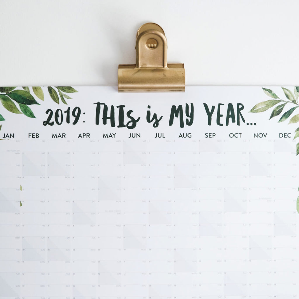 2019 Greenery Wall Planner 'This Is My Year'