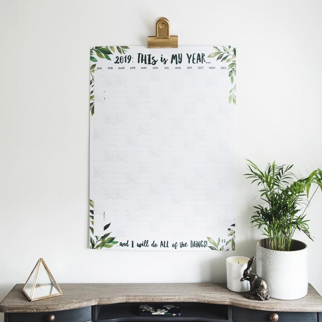 'This Is My Year' 2019 Botanical Inspired Wall Planner