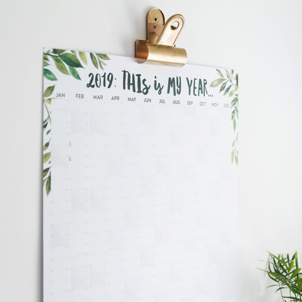 'This Is My Year' 2019 Tropical Wall Planner