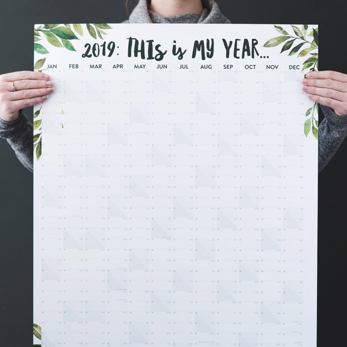 'This Is My Year' 2019 Wall Planner for home or office