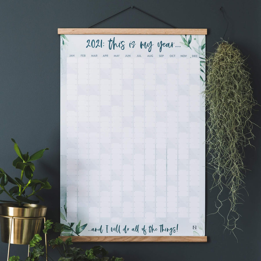 'This Is My Year' 2021 Botanical Wall Planner
