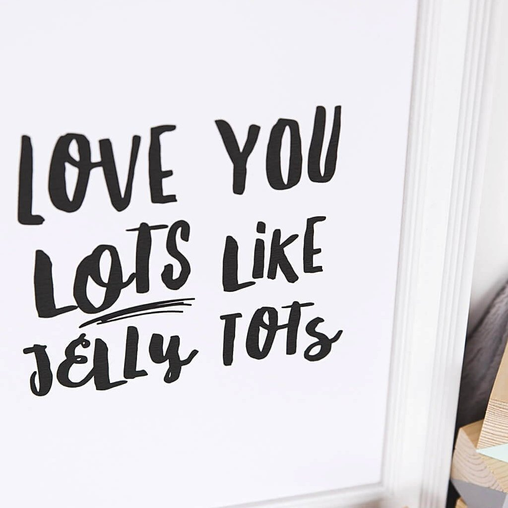 'Love You Lots Like Jelly Tots' A4 Print