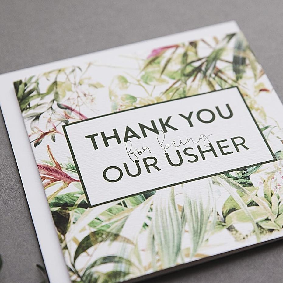 Thank you for being our Usher card