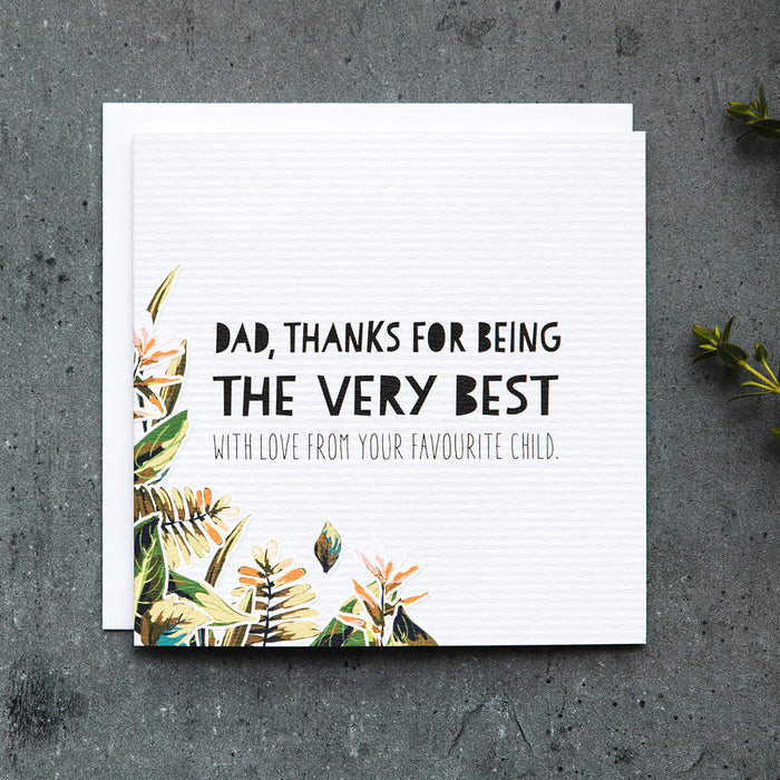 Botanical Fathers Day Card - 'Very Best Dad'