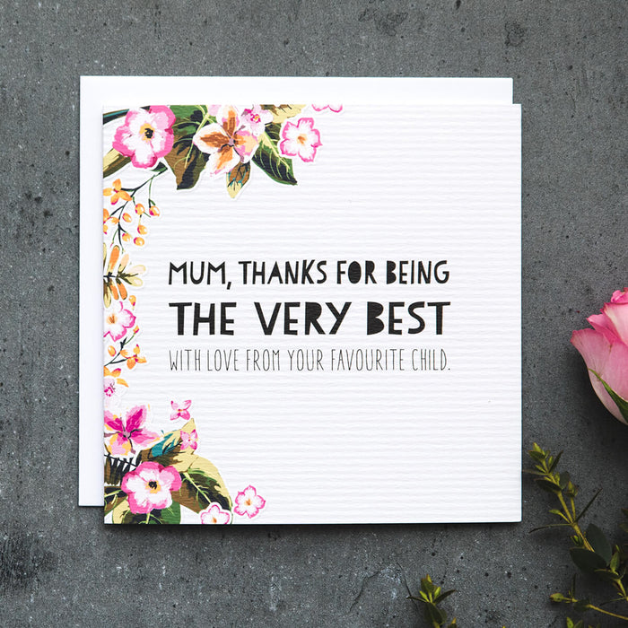 Funny Mother's Day Card 'Very Best Mum'
