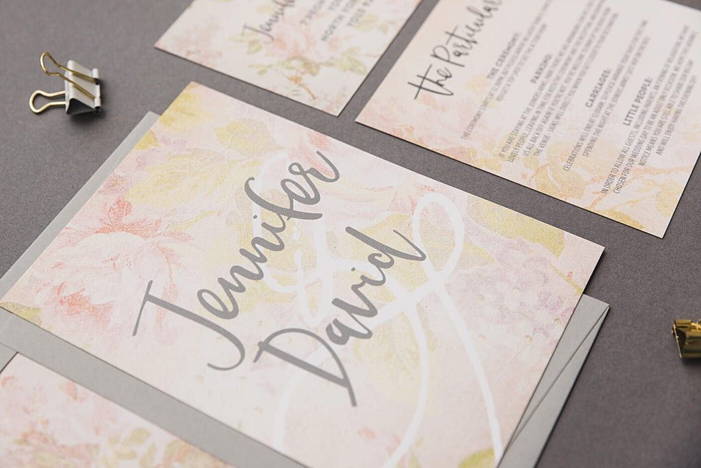 Vintage Rose Wedding Stationery