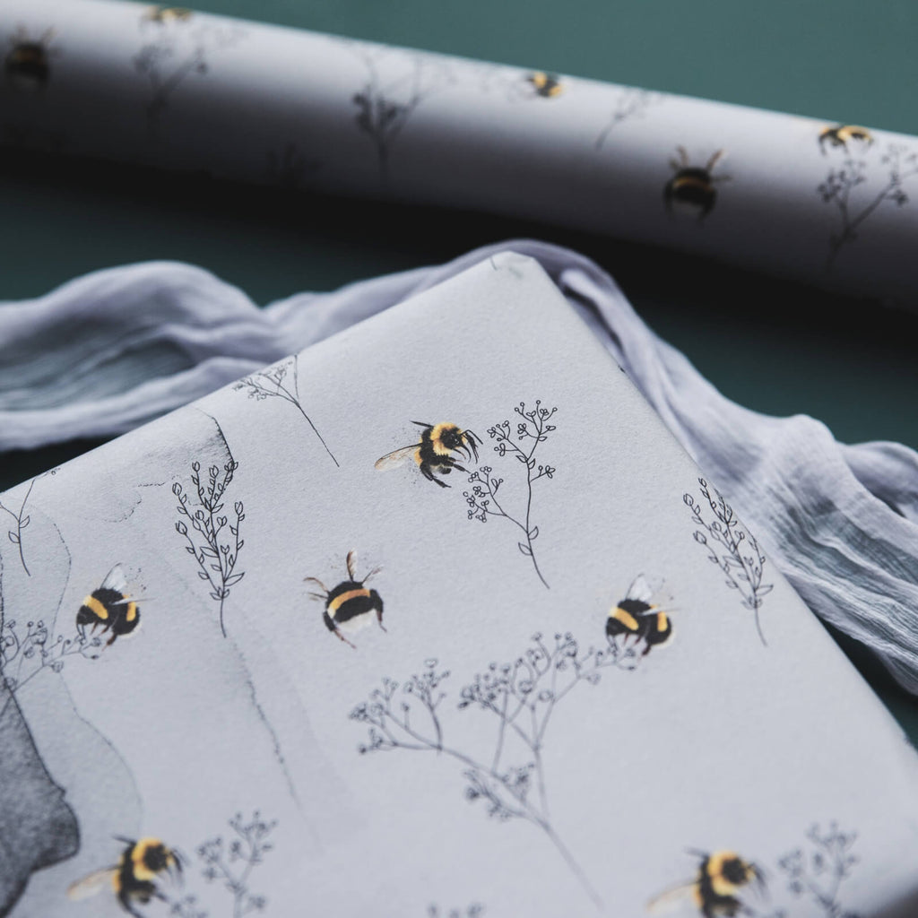Bumblebees and Foliage Wrapping Paper