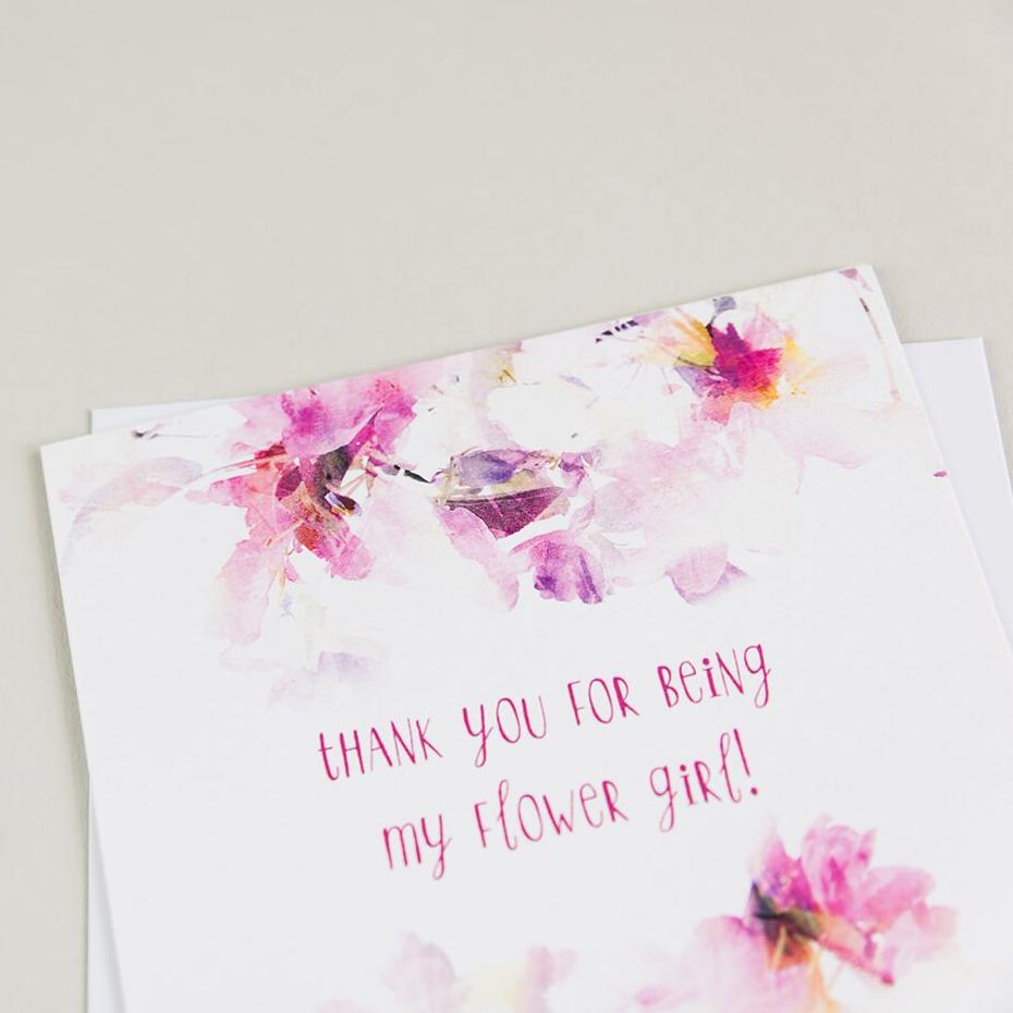 Wedding Cards For Flower Girls - 'Thank You For Being My Flower Girl' Card