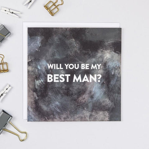 'Will You Be My Best Man' Stylish Proposal Card