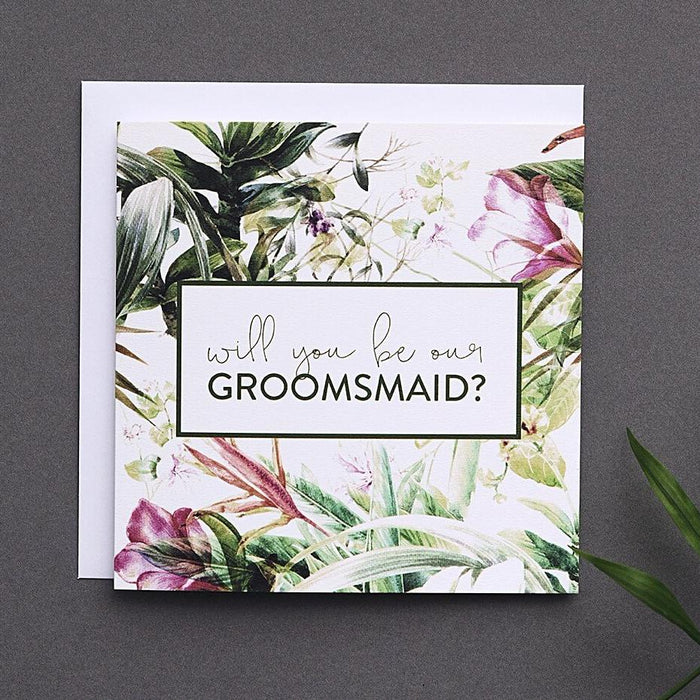 Tropical Groomsmaid proposal card