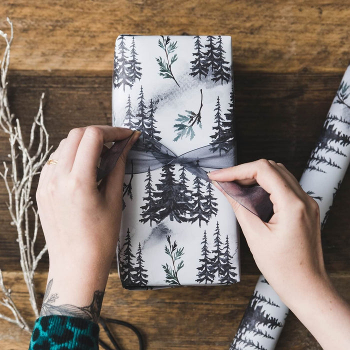 Winter Forest Christmas Gift Wrap