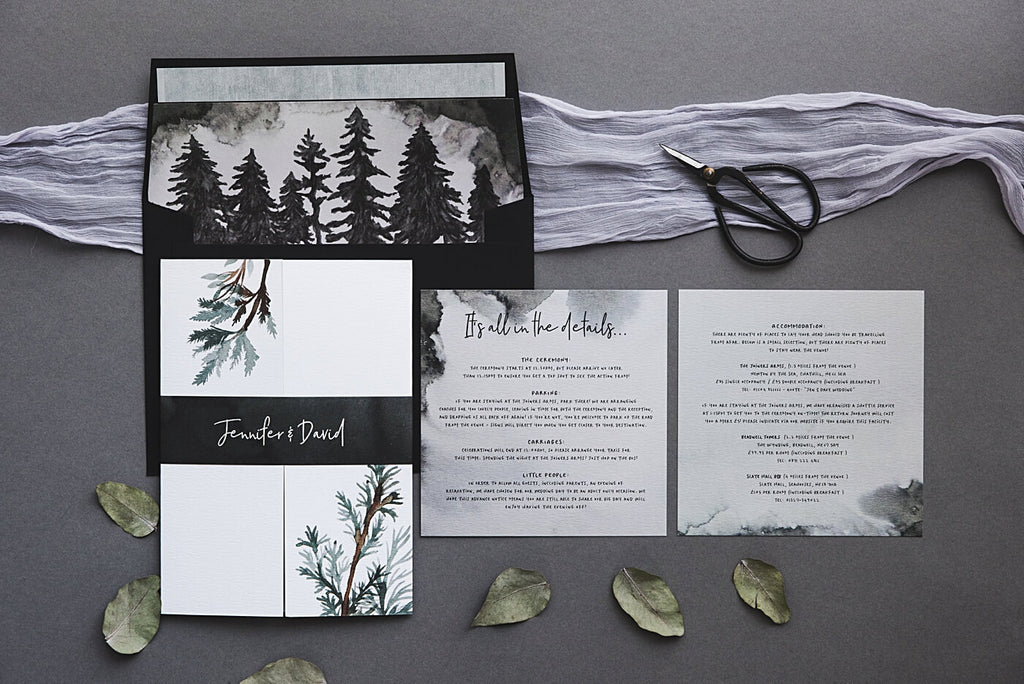 Winter Forest Wedding Invitation Set