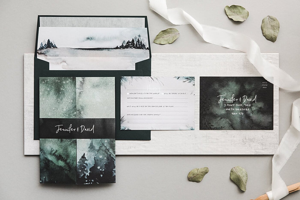 Winter Setting Wedding Invitations