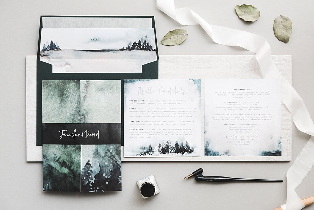 Winter Woodland Wedding Stationery