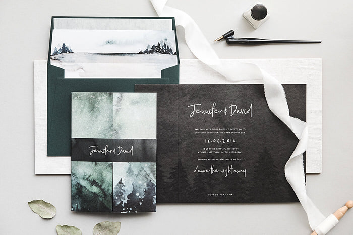 Winter Wedding Invitation Package