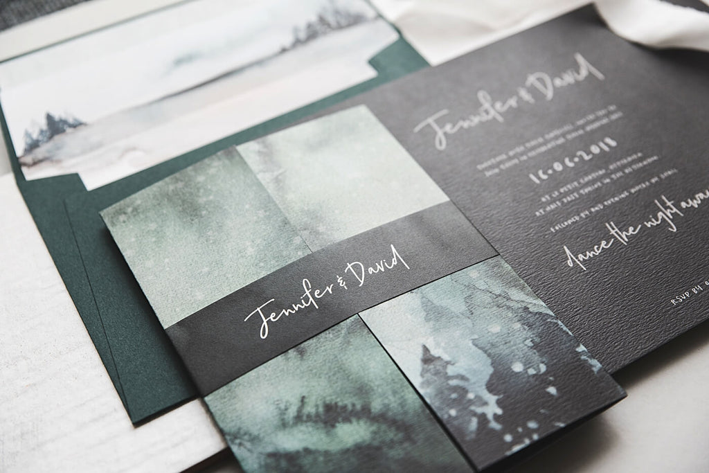 Gate Fold Winter Wedding Invite