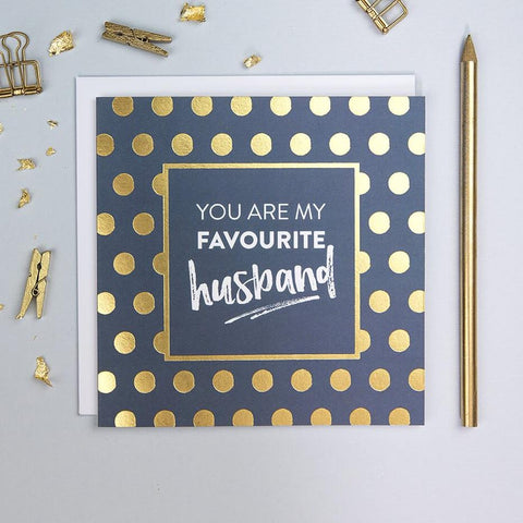 You Are My Favourite Husband anniversary Card