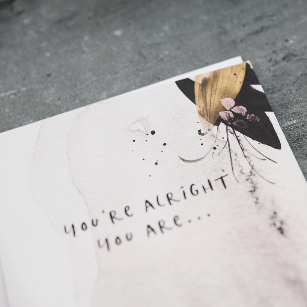 Watercolour Anniversary Card 'You're Alright You Are'