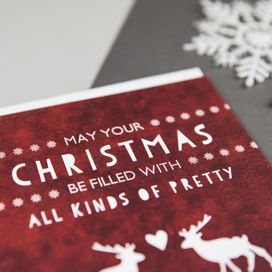 Stag Christmas Card 'All Kinds Of Pretty'
