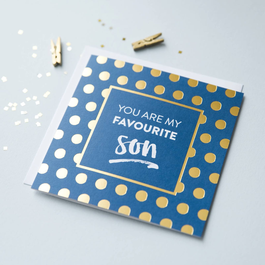 'You Are My Favourite Son' Gold Foil Card