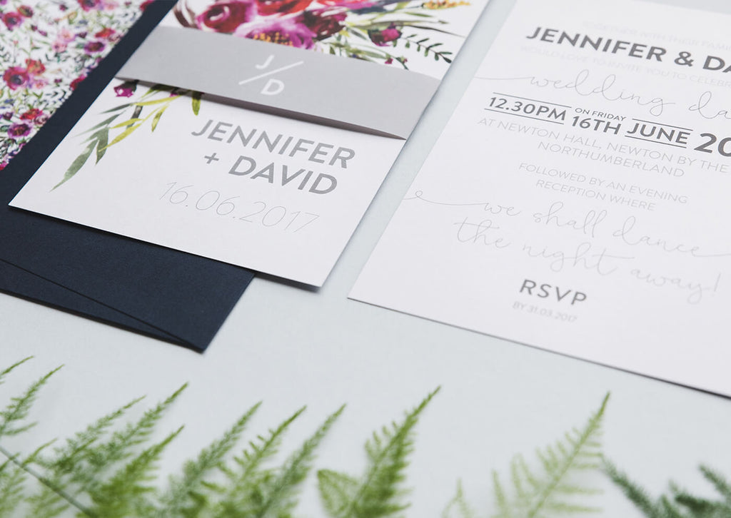 watercolour wedding invitations floral
