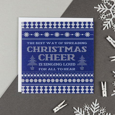 'Christmas Cheer' Elf Christmas Card