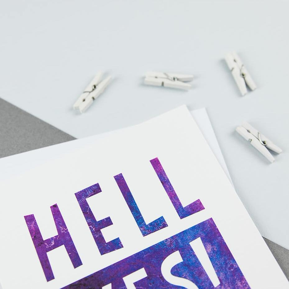 'Hell Yes!' Congratulations Card