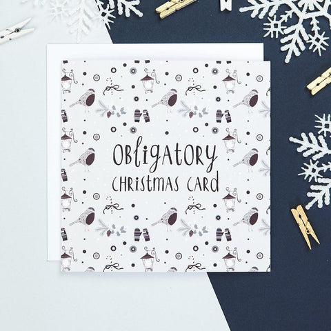 'Obligatory Christmas' Funny Christmas Card