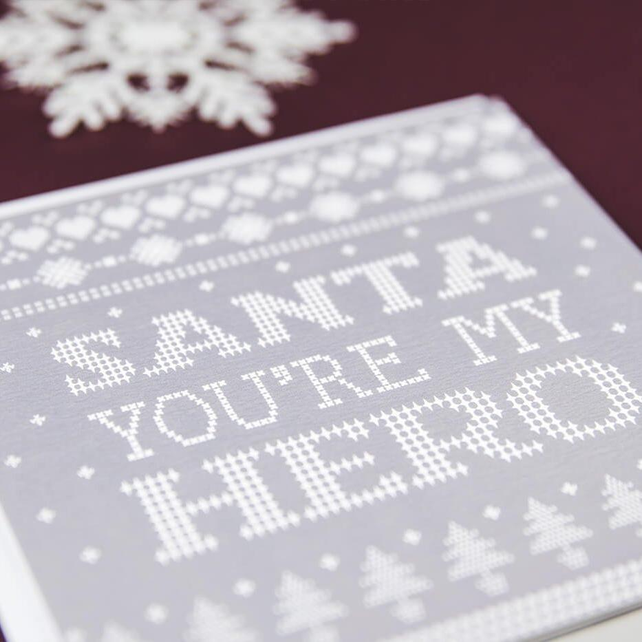 I Love Santa Christmas Cards - You're My Hero