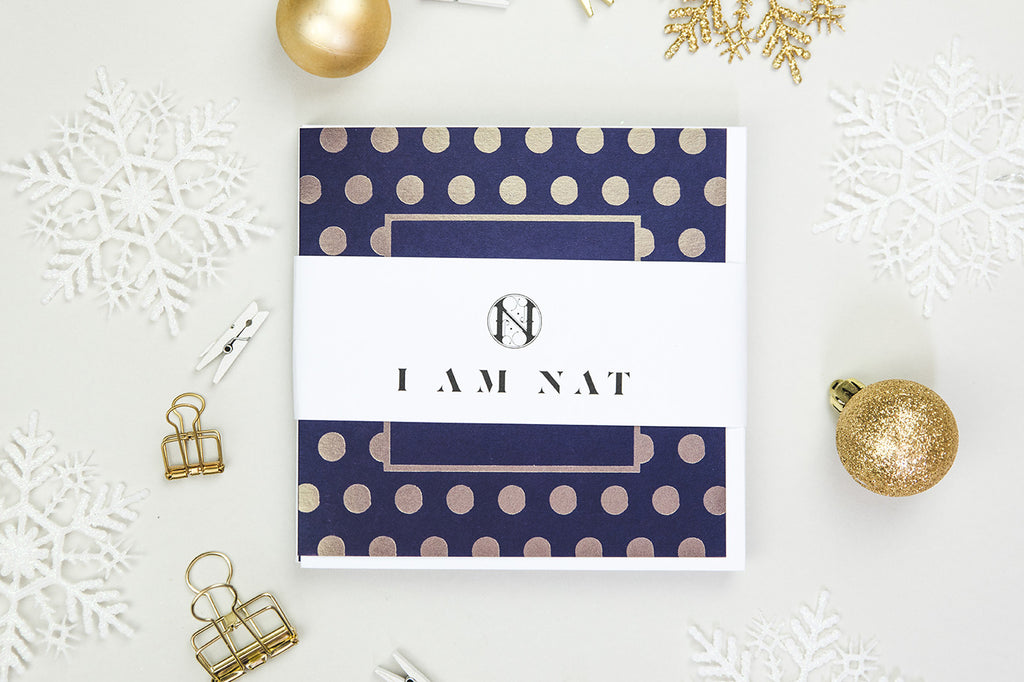 Gold Foil Socially Awkward Christmas Card Pack