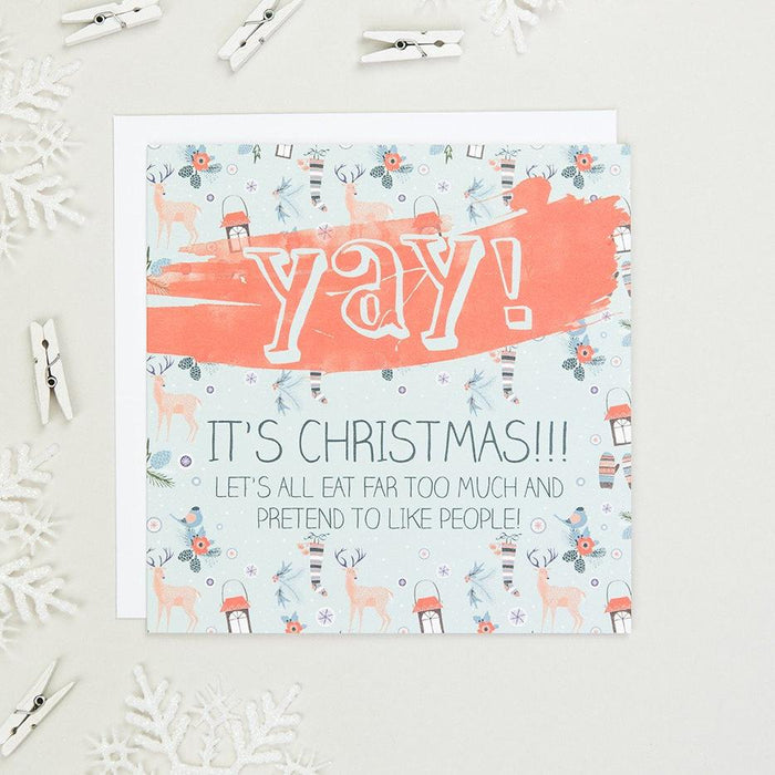 'Yay! It's Christmas!' Funny Christmas Card