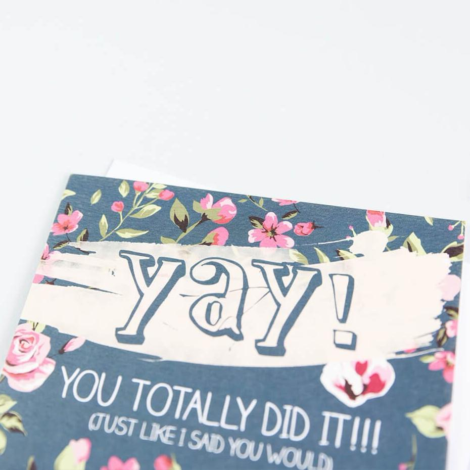 'Yay! You Totally Did It!' Congratulations Card