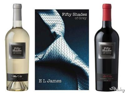 Wine Twin Pack  - 50 Shades of Grey; 1 Red Satin & 1 White Silk