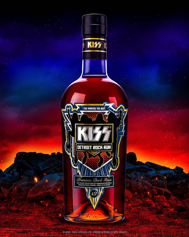 Kiss Detroit Rock Rum 45% 700ml