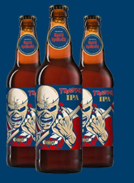 Iron Maiden's Trooper IPA Beer 4.3% ABV (8 x 500ml)