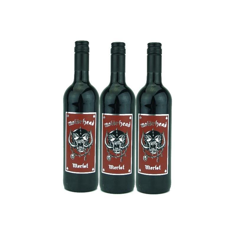 Motörhead Merlot 13% 750ml - 3 Bottles