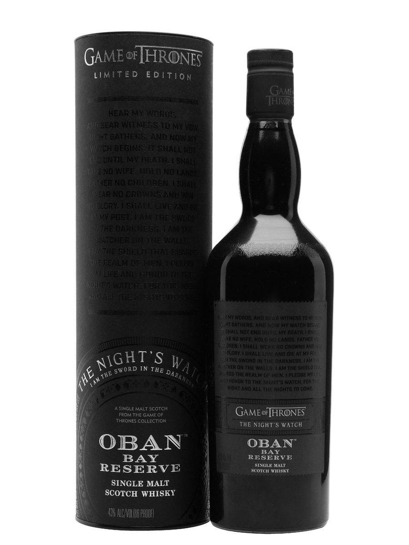 Game of Thrones The Night's Watch – Oban Bay Reserve 700cl 43%