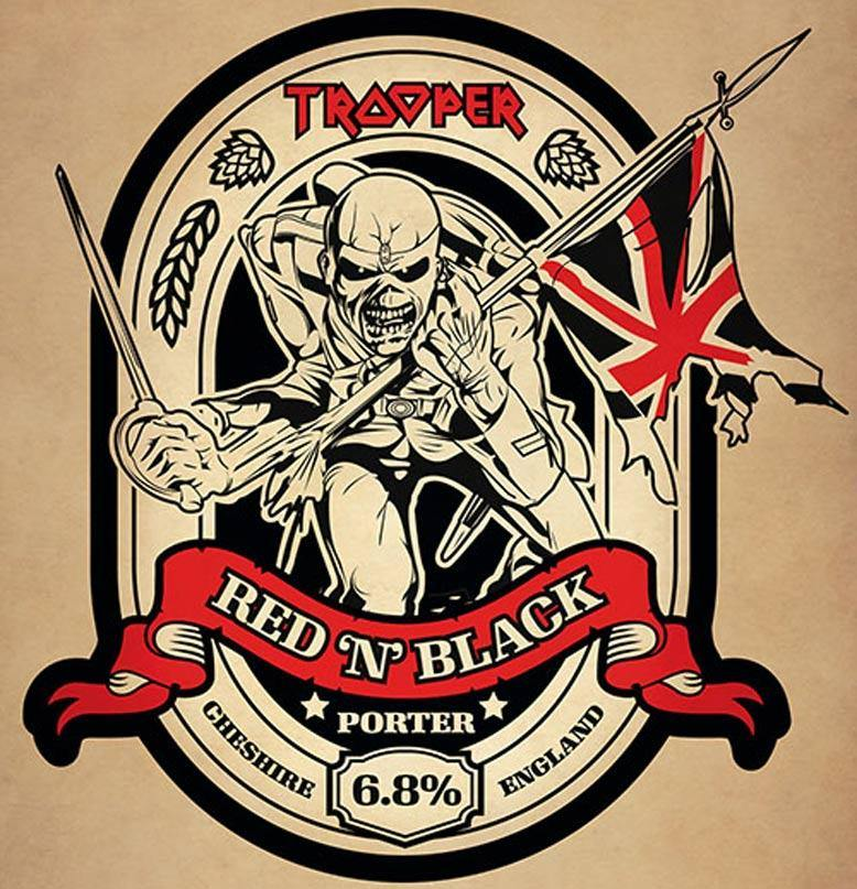 Iron Maiden's Trooper Beer Red N Black 6.8% (8 x 500ml) - Canadian Label