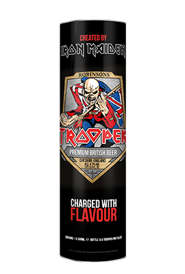 Iron Maiden's Trooper Beer & Glass Gift Tube