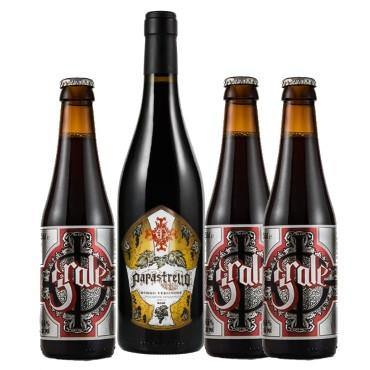 Ghost Papastrello Italian Red Wine and 3 x Ghost Grale Ale