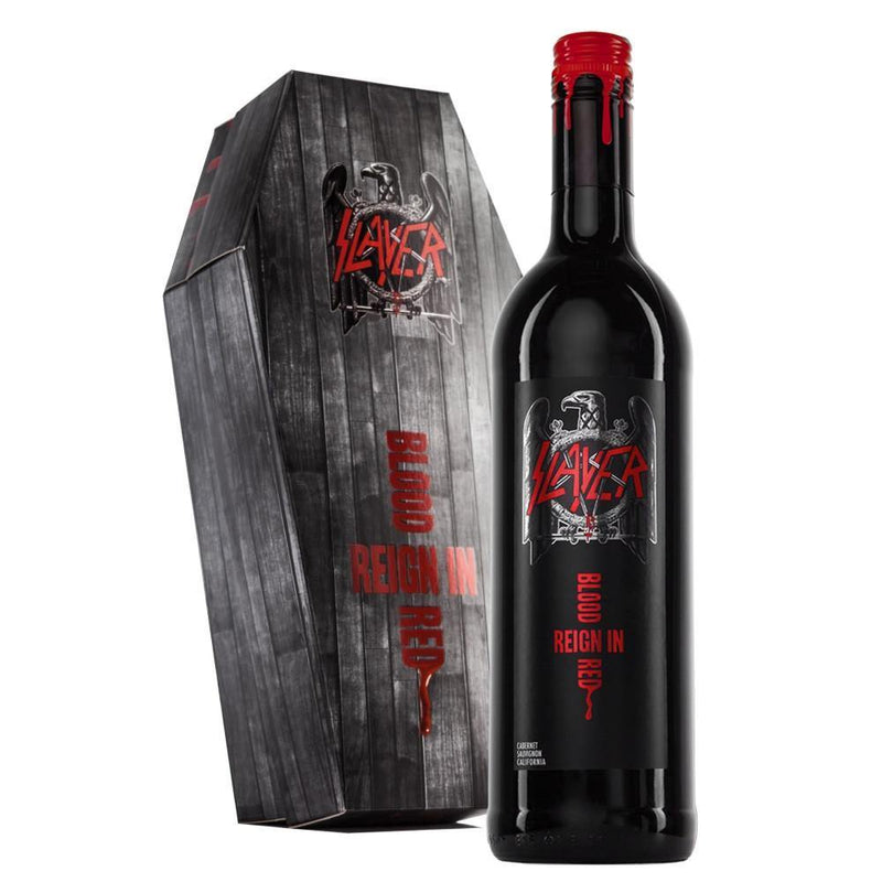 Slayer Reign In Blood Cabernet Sauvignon Coffin Gift Pack